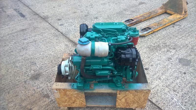 Volvo Penta 2002 18hp Heat Exchanger Cooled Marine Diesel Engine
