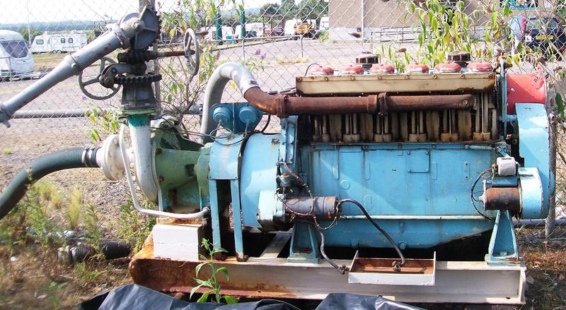 Merryweather sea water pump with Ruston & Hornsby Ltd engine