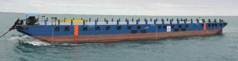 230ft Deck Cargo Ballast Tank Barge