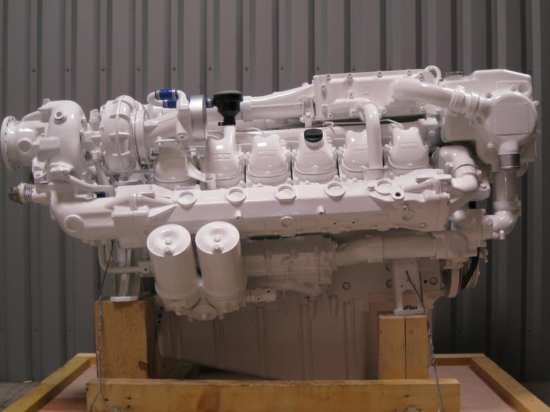 RECONDITIONED  NEW  MARINE ENGINES   -MTU MERCEDES-  MAN  - Baudouin