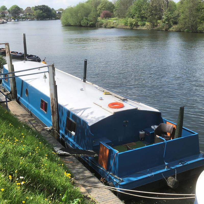 60' x 12' Widebeam Barge on Riverside Mooring
