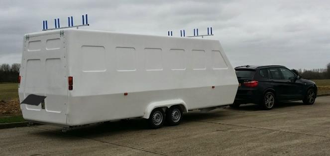 Flying Phantom Elite -foiling catamaran including enclosed box trailer