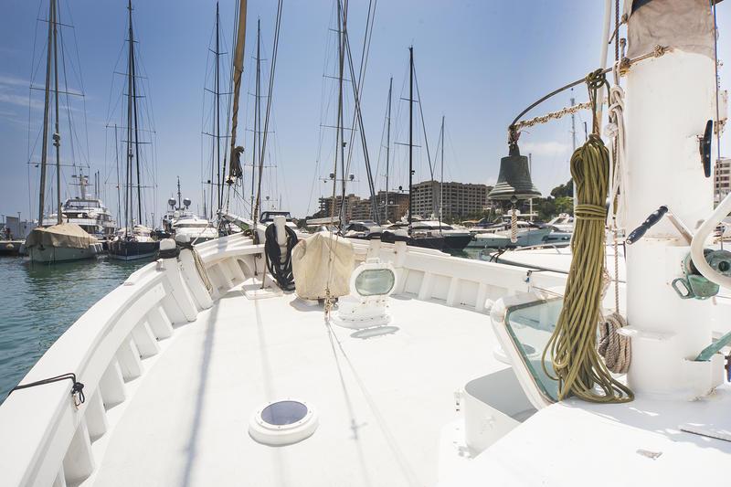 Beautifully restored motor sailor