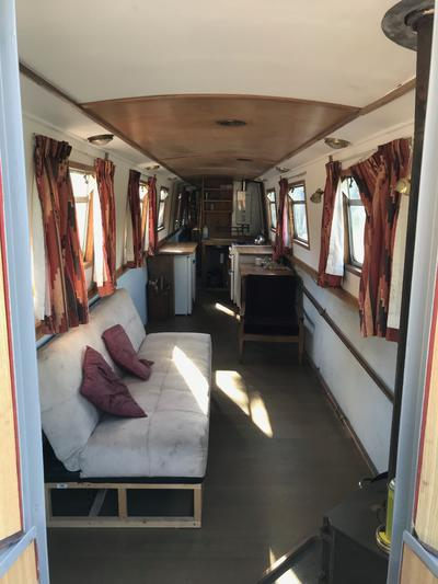 60ft Narrowboat. Open plan live-aboard conversion almost finished