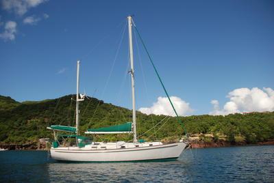 1981 Pearson 424 Ketch in Caribbean
