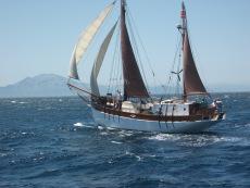 Classic baltic sailing live aboard boat