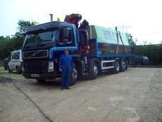 LORRY WITH HI-AB CRANE UP TO 30FT BOAT