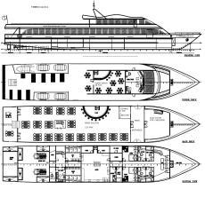 50Meter Passenger Boat New Construction