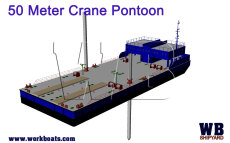 Crane Barge New Build 50m with twin spud