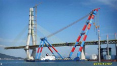 1200t Sheerleg Floating Crane Barge