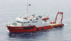 ROV Survey vessel with moonpool