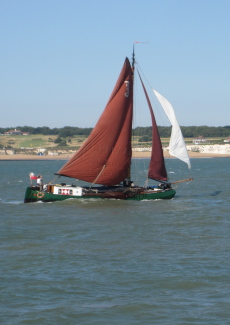 A Beautiful working sailing barge