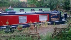 Narrowboat on residential London mooring