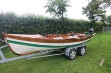 18ft wooden lake boat
