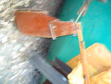 mirror  rudder  assembly  and  metal   mast