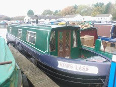 45ft Cruiser stern narrowboat