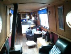 65ft  narrowboat – ideal live-aboard