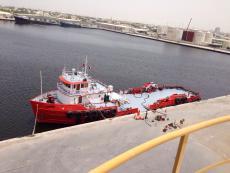 Supply vessels in UAE.