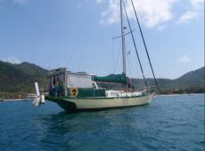 A beautiful strong cruising yacht.