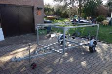 Double stacker dinghy trailer.
