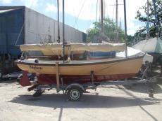 Swift Explorer on trailer ready to sail