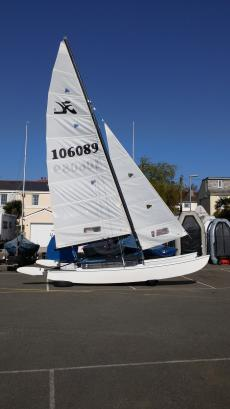 hobie 16 & road trailer with catbox