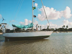 Graal, one off aluminium swing keel