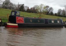 Narrowboat. 57ft, trad stern