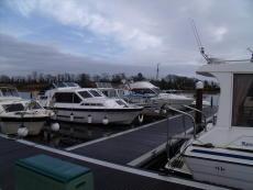 Marina berths on river Erne.