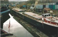 178ft ex commercial barge - owner can shorten at very reasonable cost
