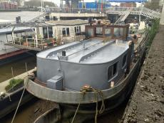 108ft Dutch barge - completely stripped out.