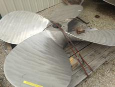 """R-L 94 X 66.5, 4 BLADE, 9"""" BORE, STAINLESS STEEL PROPELLER"""