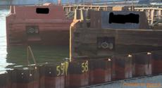2 X HOPPER BARGES / DWT 1100 MTS - RIVER GOING