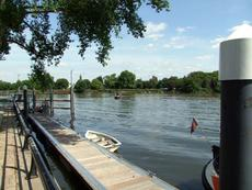 Residential moorings at Brentford in west London