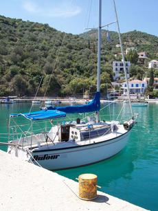 Dufour 2800 yacht, British registered lying Tolo, Greece