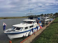 Seamaster moored Norfolk broads
