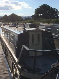 Reduced price. . Narrow Boat. With sought  after welsh mooring