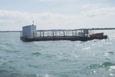60ft x 24ft Pontoon with Catamaran Hull suitable for conversion