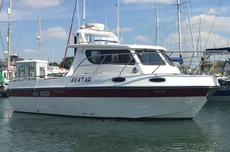28ft fishing boat Aquafish 28 family fisher twin diesel shaft drive
