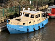 All Steel Widebeam Cruiser Replica Fishing barge Cruiser houseboat