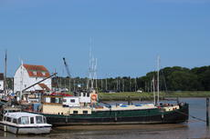 Stunning 21m classic Dutch barge with exceptional Woodbridge mooring