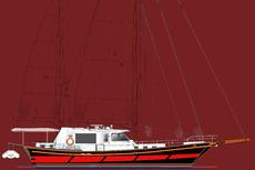 PS 55 Ocean Ketch Rigged Motorsailer
