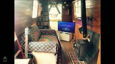 60ft live work aboard Narrow Boat