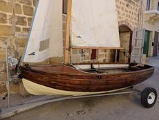 Mahogany clinker dinghy