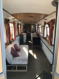 60ft 1996 ex-hire boat converted to open plan live-aboard!