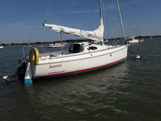 """Etap 21i 1998 """"Sunrise"""" Suffolk with road trailer - ready to launch"""