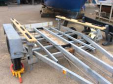 Rebuilt twin axel trailer