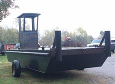 "23'6 x 8' x 30"" 2018 Steel Work Barge - Ready to Ship"