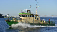 Aluminium wind farm vessel Kraft, new engines, 20 nots.