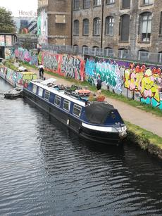 56ft Rustic Interior Cruiser Stern Narrowboat - Live-aboard in London